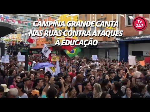 Campina Grande canta nas ruas contra ataques à Educação
