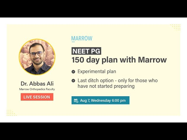 150 Day Plan with Marrow - for NEET PG