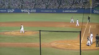 東京ヤクルトスワローズ雄平、同点に追いつく2点タイムリーヒットの瞬...
