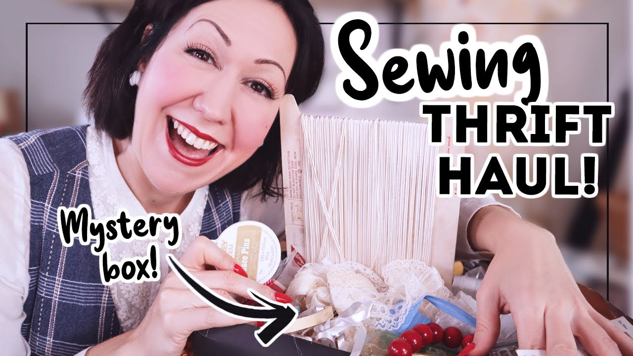 SEWING SUPPLY THRIFT HAUL! What great treasures did I find to 'top up' my stash the last months??