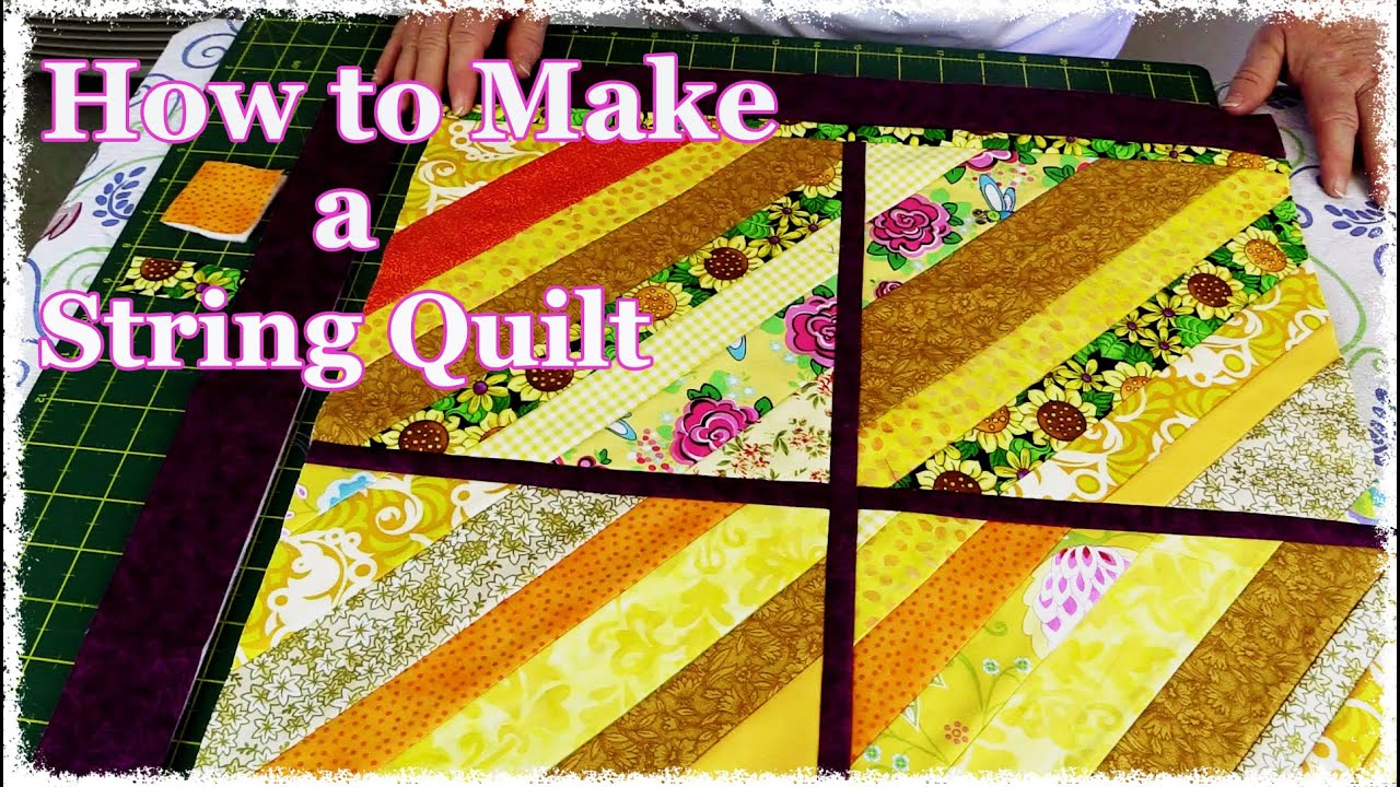 How to Make a String Quilt From Your Scrap Stash (Quilting ... : string quilt patterns - Adamdwight.com