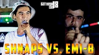 БАТТЛЕРИ СОЛ 2018, Emi-B vs. Shnaps (RAP.TJ)