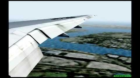 fs2004  777300 ana close call