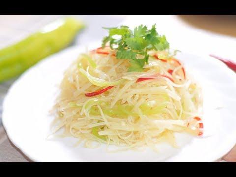 学会这个小妙招,让你切出细如发丝的土豆丝,做出口感清脆小凉菜