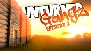 Unturned GangZ Hawaii S5E2: Building a Helicopter Hangar! (Hawaii Multiplayer Gameplay)