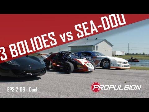 Sea-doo RXP-X 300 contre trois bolides