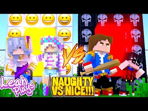 Minecraft LEAH PLAYS || PORTAL TO THE NICE LIFE VS PORTAL TO THE NAUGHTY LIFE || GIRLS VS BOYS !!!