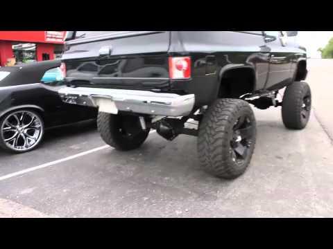 lifted k5 blazer on 37's with 24s rockstar's - YouTube