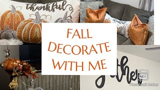 FALL CLEAN & DECORATE WITH ME/ TRANSITION FROM SUMMER TO FALL #cleaningvideo #falldecor #tmbdesigns