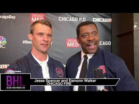 Jesse Spencer And Eamonn Walker Want Boxing And Motorbikes   NBC One Chicago Day Red Carpet