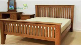 Bedroom Furniture - Aston Solid Oak Bed