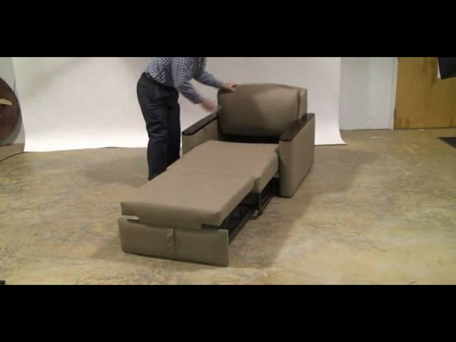Miller Four Position Pull Out Chair Sleeper Youtube