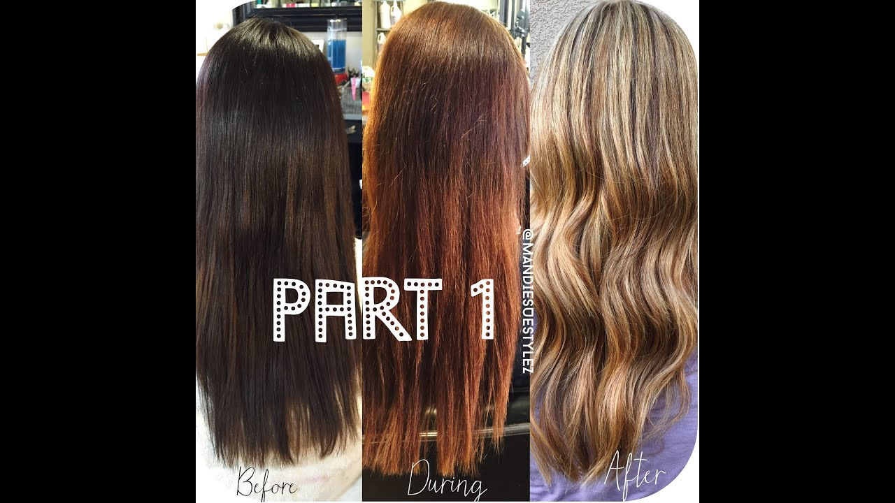 Stripping out Box Color & Olaplex Treatment |PART1| - YouTube