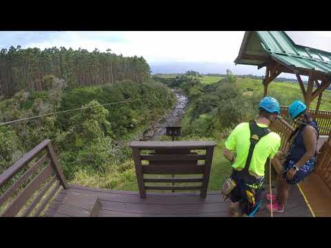 Umauma Falls Hawaii Best Zipline experience ever for person with fear of heights