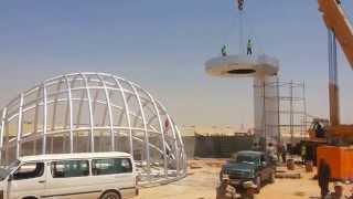 شاهد مصر ترفع الكرة الارضية فى قناة السويس الجديدة 27يوليو 2015