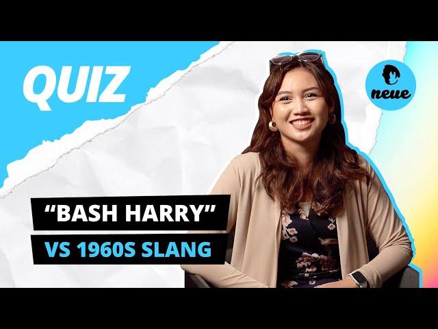 Bash Harry vs 1960s Slang