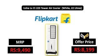 Usha Lx Ct 223 Tower Air Cooler (White, 22 Litres)