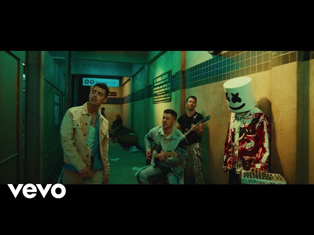 Marshmello x Jonas Brothers - Leave Before You Love Me (Official Music Video)