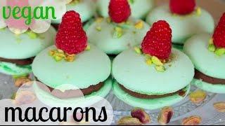 MACARONS VEGAN | Pistache Chocolat Framboise