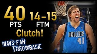 Throwback: Dirk Nowitzki Full Highlights 2011 WCF Game 4 at Thunder - 40 Points, 14-15 FTM!