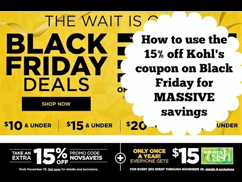 How to Use the 15% Off Kohl's Coupon on Black Friday
