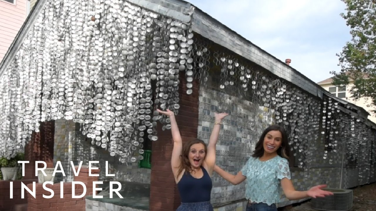 House In Texas Is Covered In 50,000 Beer Cans