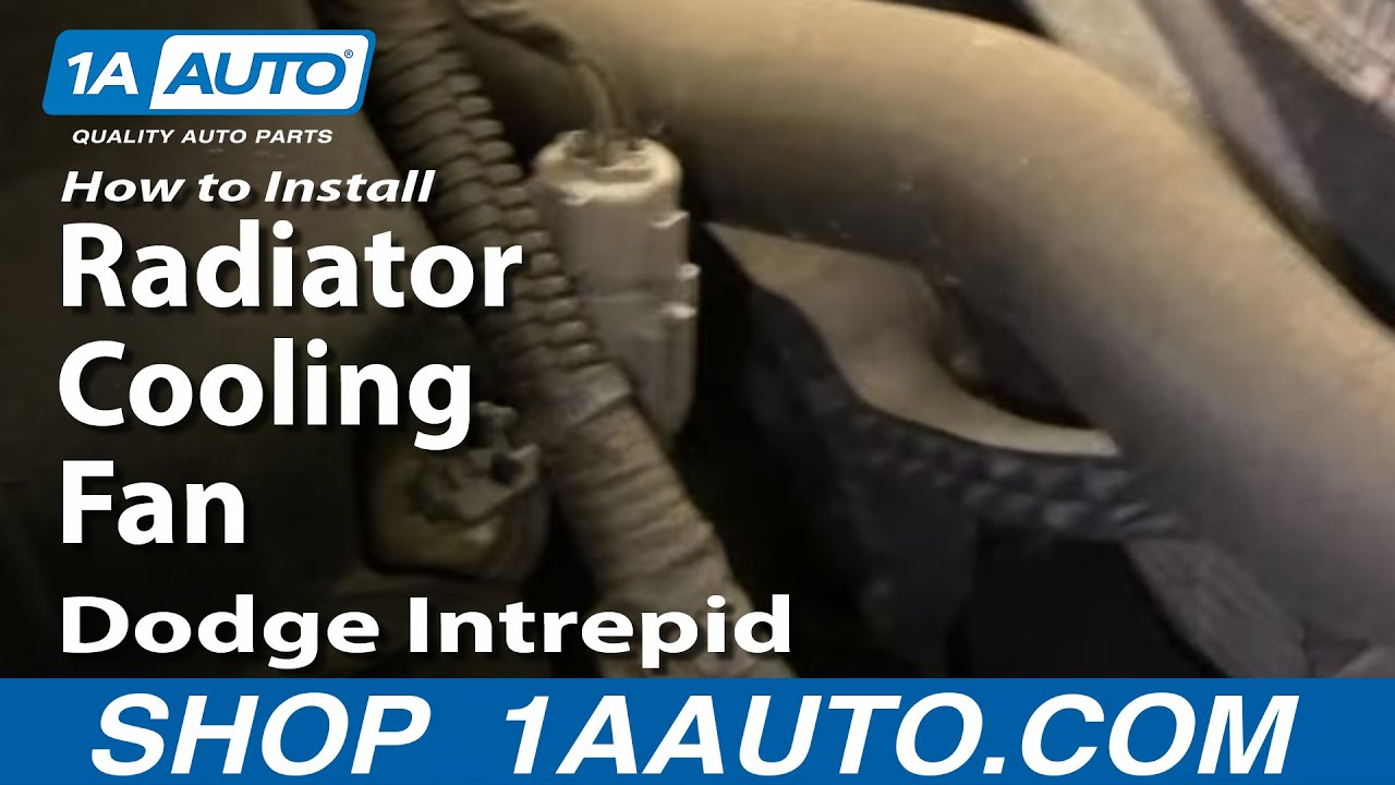 how to install repair replace radiator cooling fan dodge