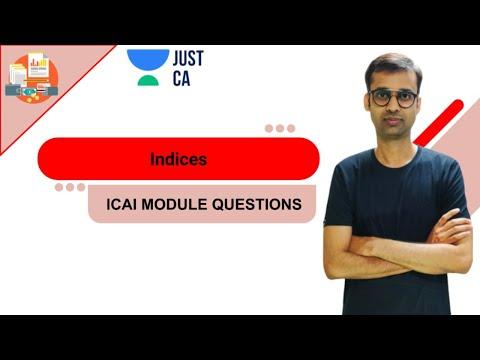 indices-|-icai-module-questions-|-just-ca---foundation-|-ca-rajgopal-sanghi