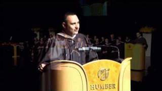 Russell Peters presented Honourary Degree from Humber College