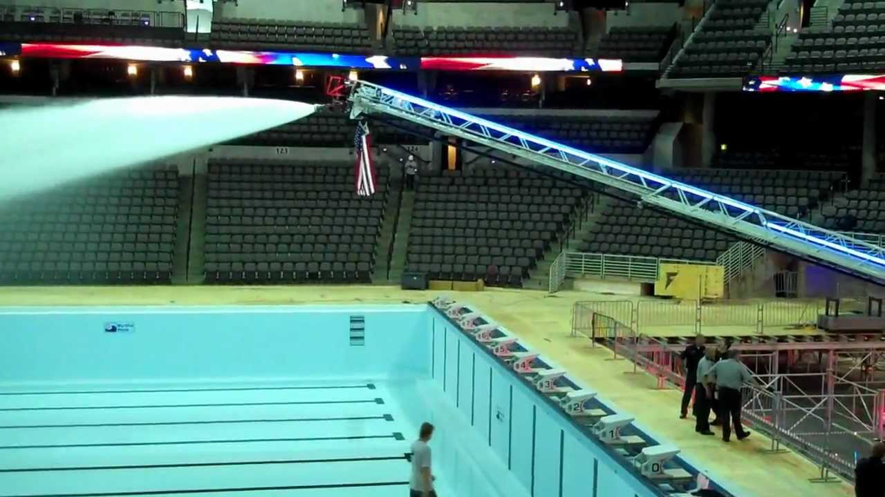 U S Olympic Swim Trials Pool Filled Youtube
