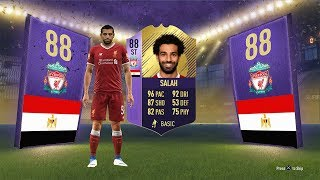 INSANE 88 ST POTM SALAH CARD CHEAP  COMPLETE - FIFA 18 Ultimate Team
