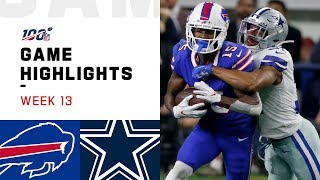 Bills Vs. Cowboys Week 13 Highlights | Nfl 2019
