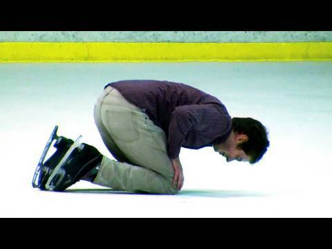 Funny ice skating are