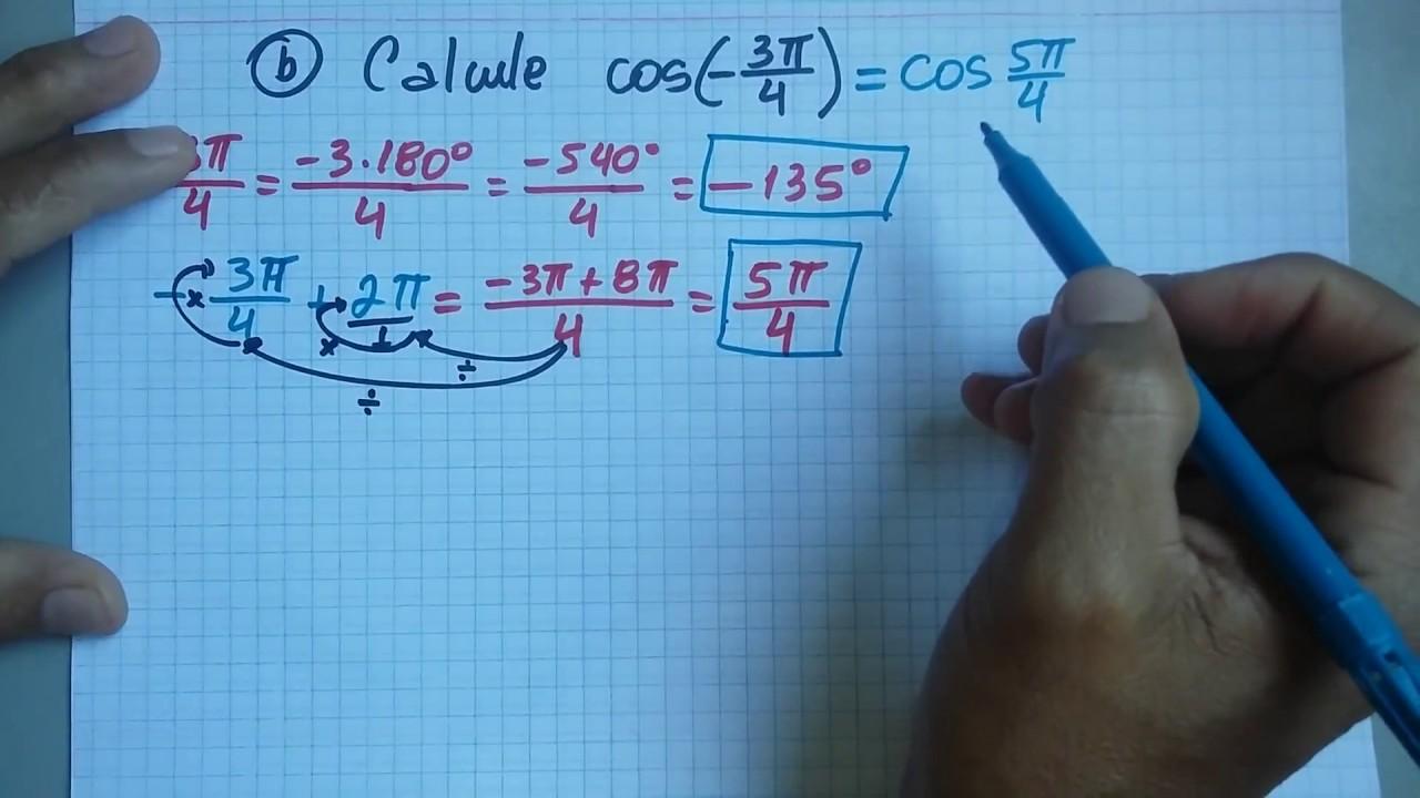 2°Ano - Como calcular o cosseno de um arco em radiano