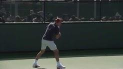 Roger Federer revez a una mano camara lenta HD