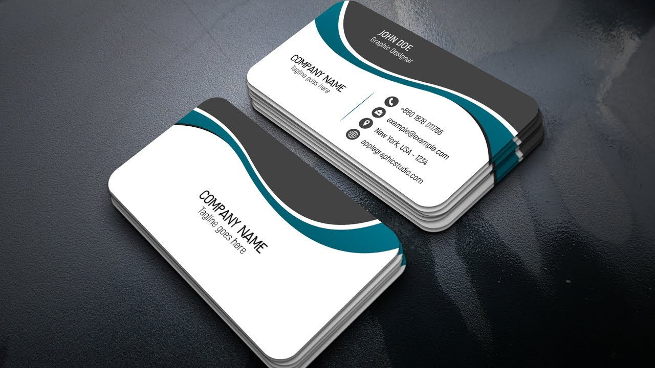 design a professional business card adobe photoshop cc 2017