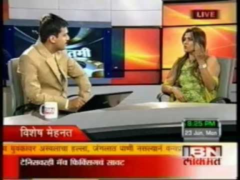 HEMANGINI JHAVERI-IBN LOKMAT NEWS CHANNEL INTERVIEW
