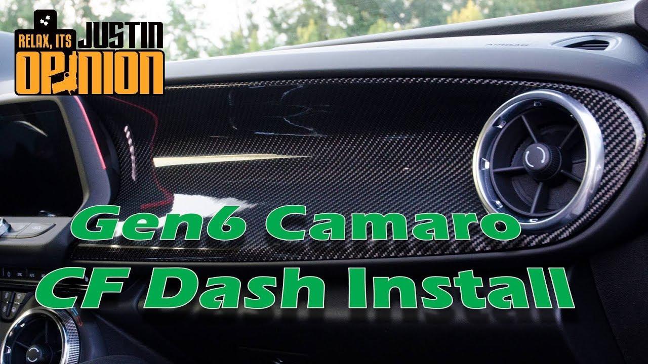 Camaro Zl1 Carbon Fiber Dash Install Youtube