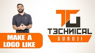 How to Make a Logo Like Technical GuruJi using PicsArt | Urdu - Hindi