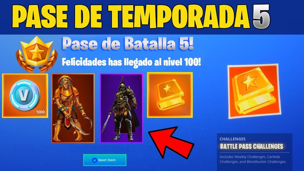 Pase de batalla 5 en fortnite skins del pase de temporada for Fortnite temporada 5 sala