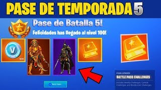 Video PASE DE BATALLA 5 EN FORTNITE! SKINS DEL PASE DE TEMPORADA 5 FORTNITE | FREE V-BUCKS FORTNITE download MP3, 3GP, MP4, WEBM, AVI, FLV Agustus 2018