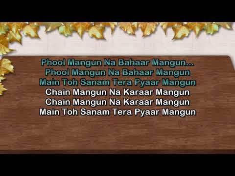 Phool Mangu Na Bahar Mangu Karaoke Udit Narayan