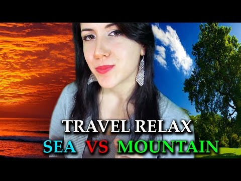 Binaural TRAVEL RELAX into the sea and mountain, Soft Spoken, Countdown, Strong Relax