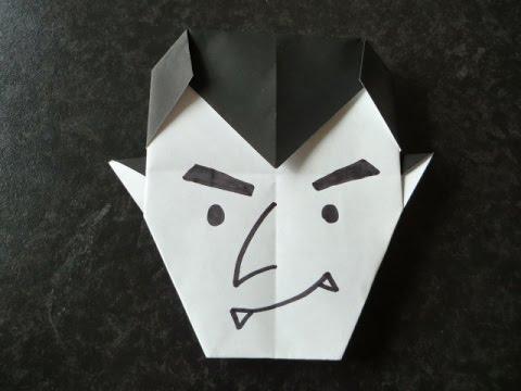 【ハロウィン】折り紙 ドラキュラの折り方   How to Origami