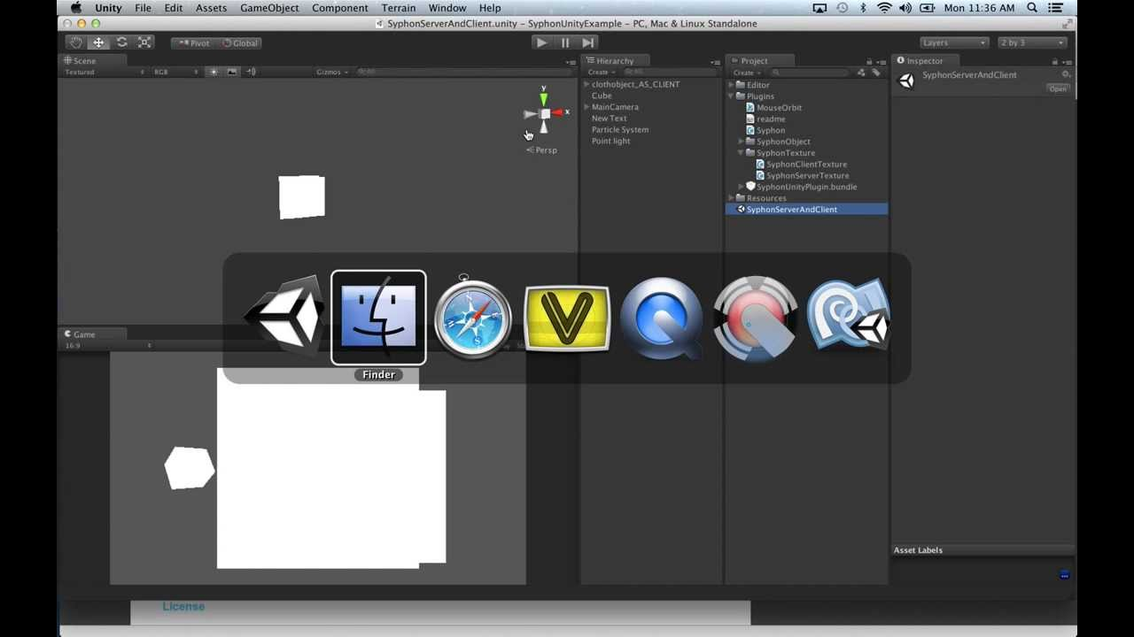 Guest Tutorial: Connecting Unity 3D Pro and VDMX by Syphon with