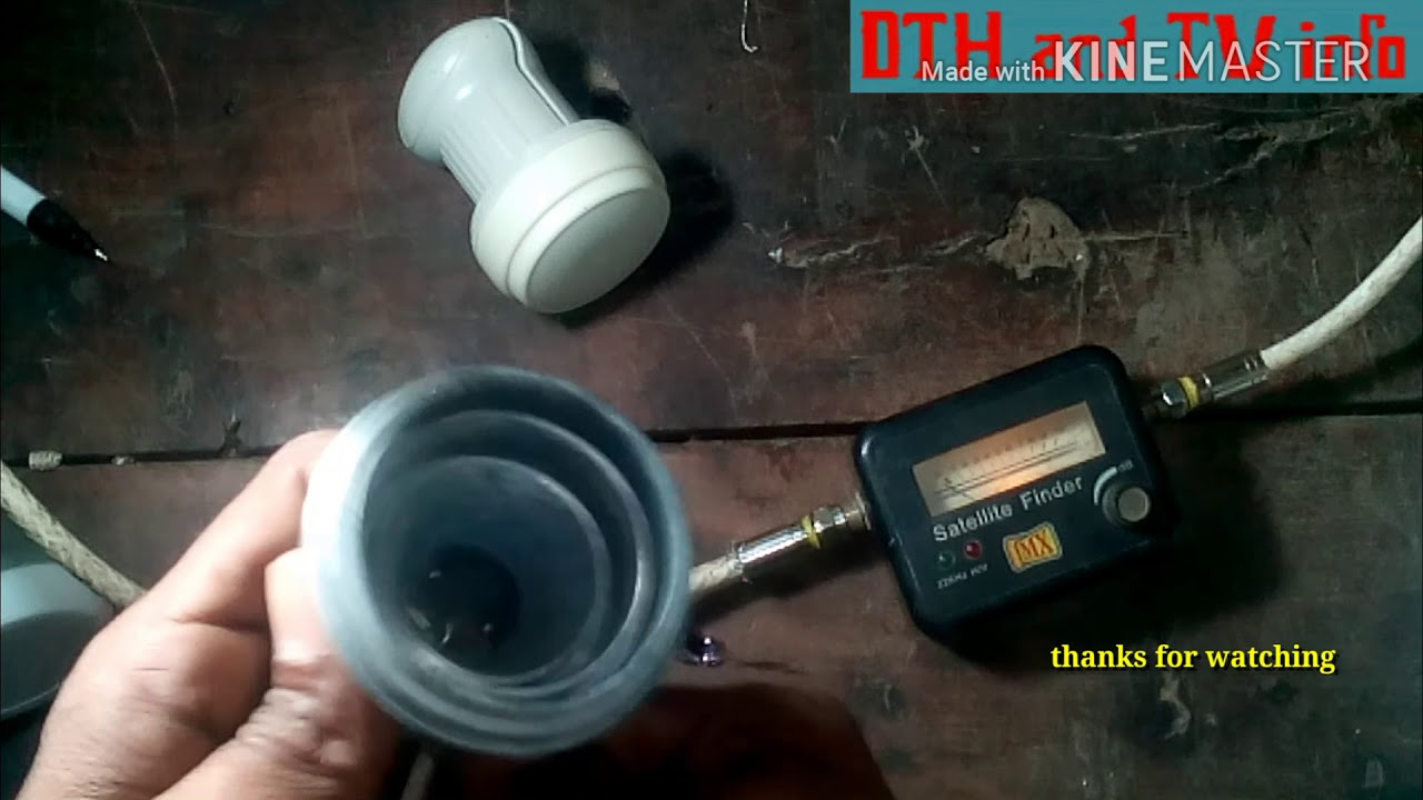 how to check dth lmb satellite signal finder meter