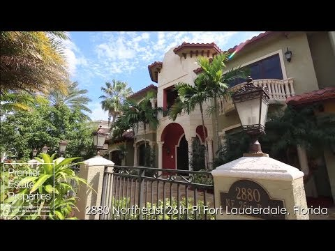 Luxury Waterfront Estate- Ft. Lauderdale Real Estate - 2880 NE 26th Pl Fort Lauderdale, FL