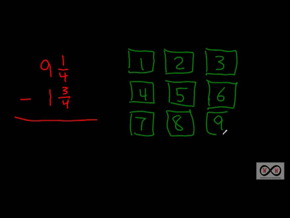 math worksheet : fractions module lesson 5 1 6a subtracting fractions and mixed  : Subtracting Fractions With Regrouping Worksheets
