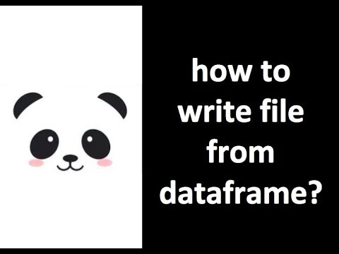 [Pandas Tutorial] How to write csv file from dataframe (to_csv)