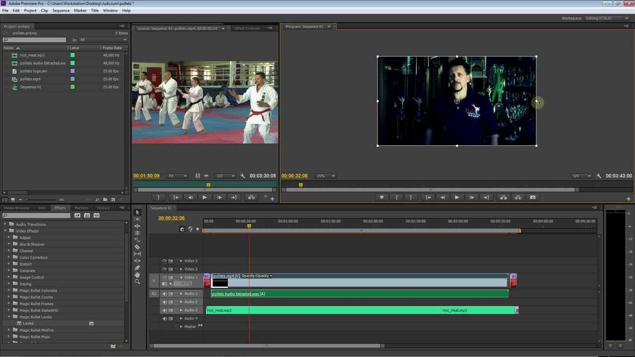 how to stretch and resize your video Easy Adobe Premiere HD